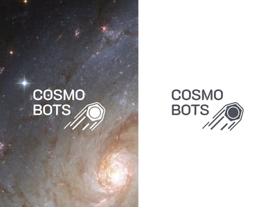 Logo for COSMOBOTS comet space cosmos