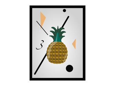 Pinapple Vector Art illustration decoration vector art affinity designer pineapple