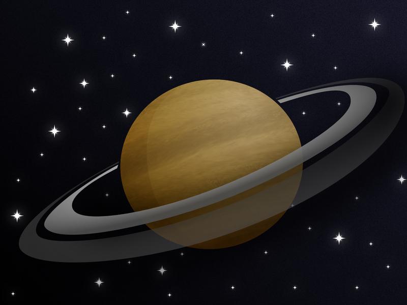 Saturn galaxy saturn rings planet stars space affinitydesigner saturn