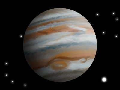Jupiter vector drawing affinity designer jupiter satellites space drawing space jupiter planet