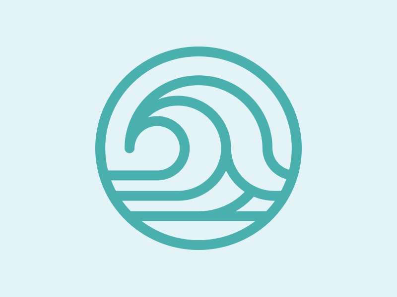 Wave Icon by Justin Block - Dribbble