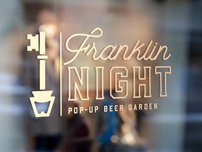 Franklin Night Pop-Up Beer Garden logo