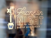 Franklin Night Pop-Up Beer Garden logo