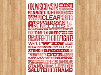 University of Wisconsin Fight Song Poster