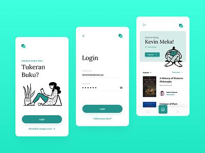Tukeran App mobile mobile app book ui ui design design