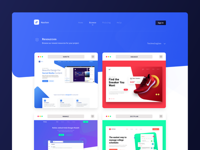 resources page exploration app ux browse illustration hero web design landing page ui design branding design ui