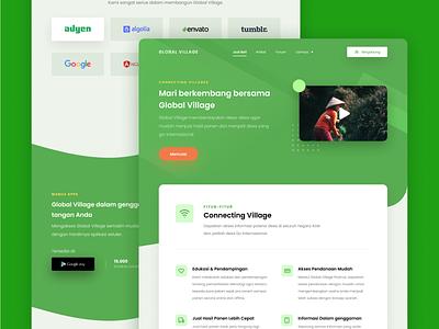 Hello Dribbble – Homepage green branding design landing page homepage web-design ui