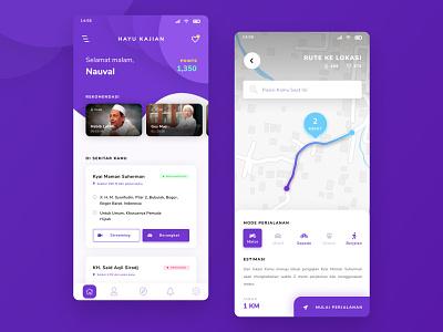 Mobile Application – Kajian App purple mobile ui icon mobile app design mobile app design app design ui