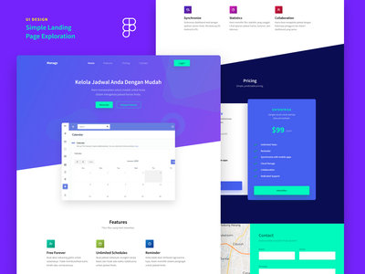 Simple Landing Page Exploration blue hero web design hero design ui design landing page homepage ui design