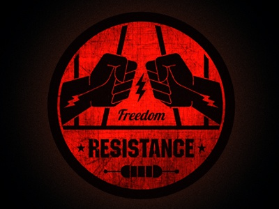 Resistance logo  badge