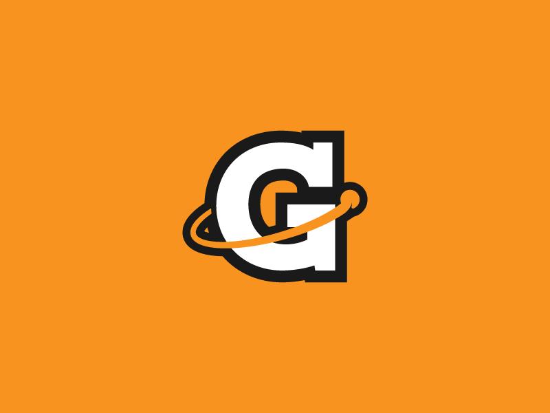 Galaxy Mascot v3 - WIP galaxy orbit logo gym g strong bold orange