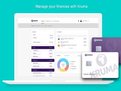 Kruma Personal Financial Management App card debit card banking pfm finance personal financial management kruma