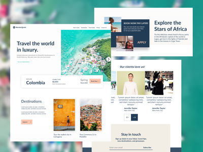 WanderQuest Mockup product design product website ux uiux ui trip travel tourism landing holiday hero