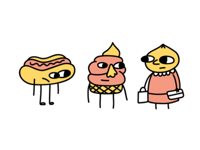 Foodie characters doodle cool art character illustration digital design