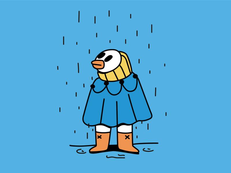 Rainy Day digital design rain characters cool art character illustration