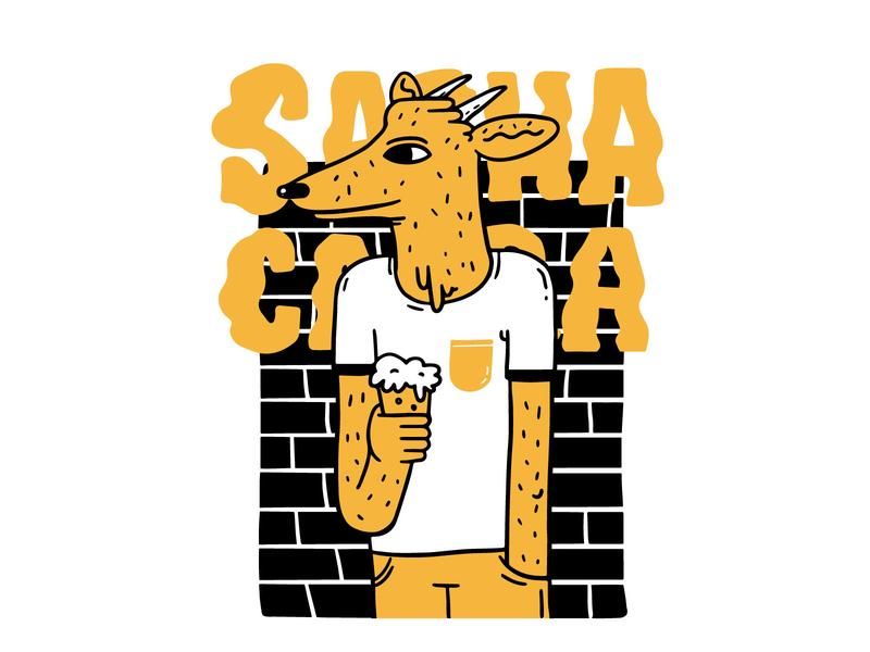 Sachacabra Brewery animal beer branding indentity brewery brewer art character digital illustration design