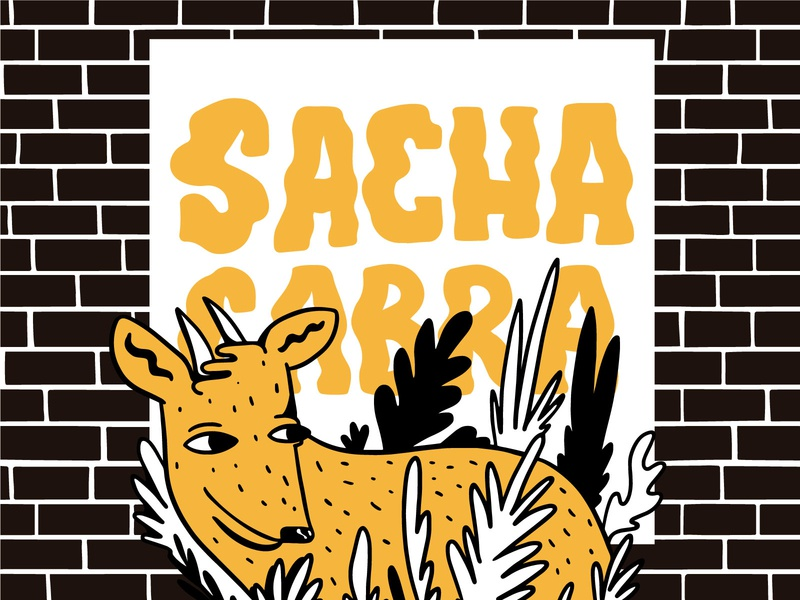 Sachacabra Brewery character digital illustration design
