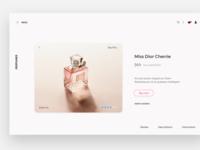 UI design for online shop