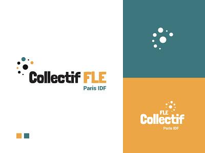 Collectif FLE logo branding identity symbol typography visual identity print logo