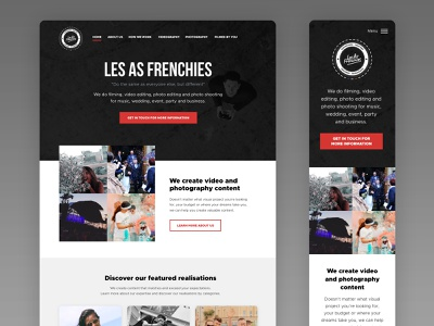 Les As Frenchies - Homepage web design ux ui typography mobile web landing page website
