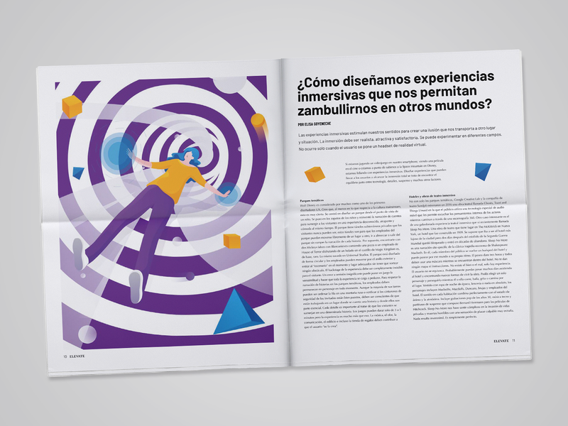 Elevate: The First Print Issue editorial news article ux-ui business illustration design