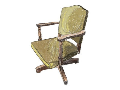 Chair Illustrations for Downtown Woodstock