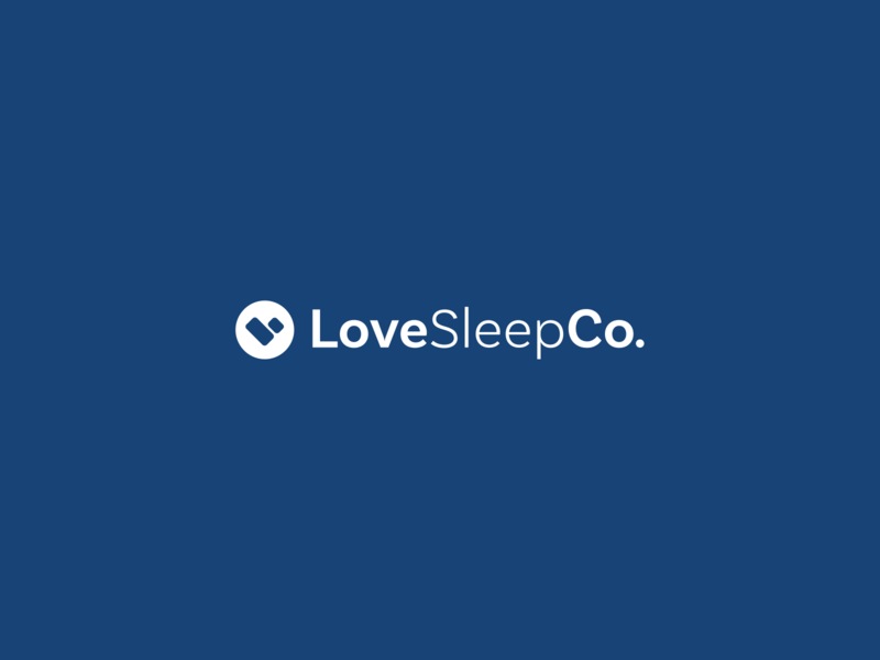 LoveSleep Logo brand design logo mark identity logomark logo design typography branding design logo graphic design