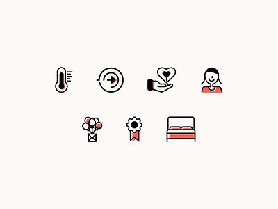LoveSleep Iconography icon design identity iconography icon set icons icon vector branding design graphic design
