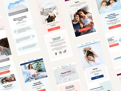 LoveSleep Email Marketing identity branding email marketing email design email design digital design visual design graphic design