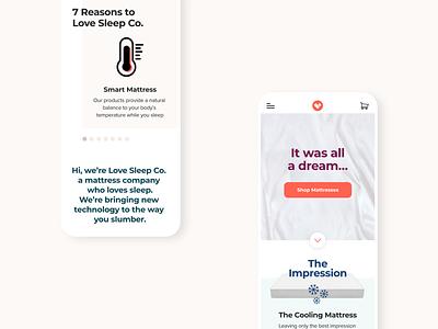 LoveSleep Website mobile design responsive interactive design design ux uiux ui digital design graphic design web design visual design
