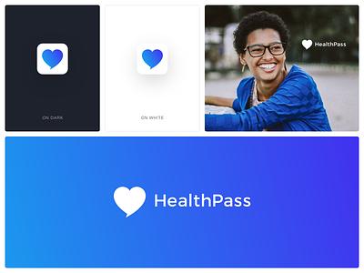 HealthPass Logo health app medical logo identity branding identity design branding logo visual design graphic design