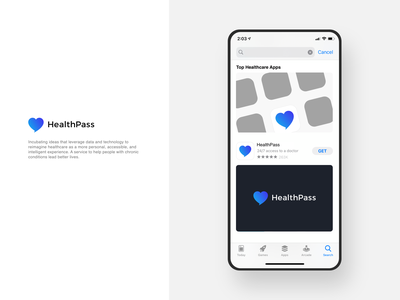HealthPass Logo medical logo health app branding identity identity design visual design branding logo graphic design
