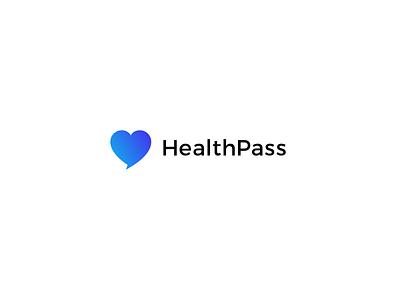 HealthPass Logo healthcare app health app medical logo branding identity identity branding logo design visual design graphic design
