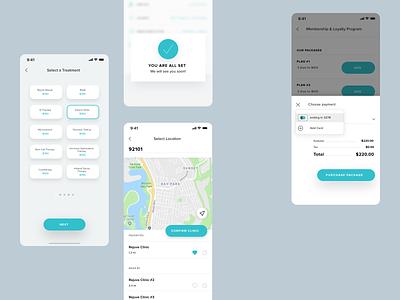 Rejuve App ui ux app ux app ui health app app app design interactive design visual design digital design