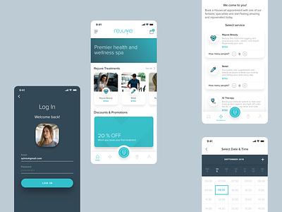 Rejuve App wellness app health app app ux app ui visual design design interactive design ux ui uiux app design digital design graphic design