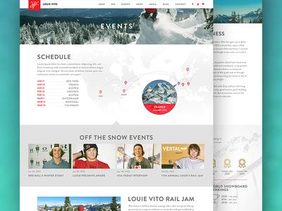 Louie Vito visual design interaction design minimalistic clean digital design web design ux ui