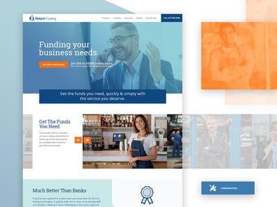 Reliant Funding bright ux ui responsive digital design visual design uiux web design