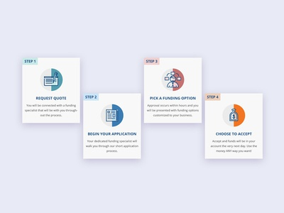 Reliant Icons modular cards bright vector visual design web design cards icons
