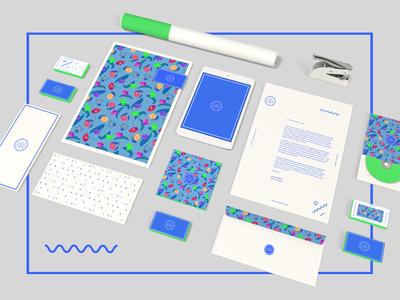 Personal Branding self promotion design graphic design logomark logo letterhead business card print bright personal branding identity branding