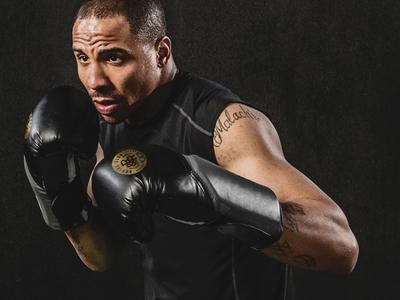 R&R Boxing Club black gold brand digital print graphic design boxing identity branding logo