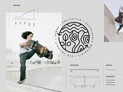 Arbor Collective badge design graphics badge logo logo web design visual design graphic design