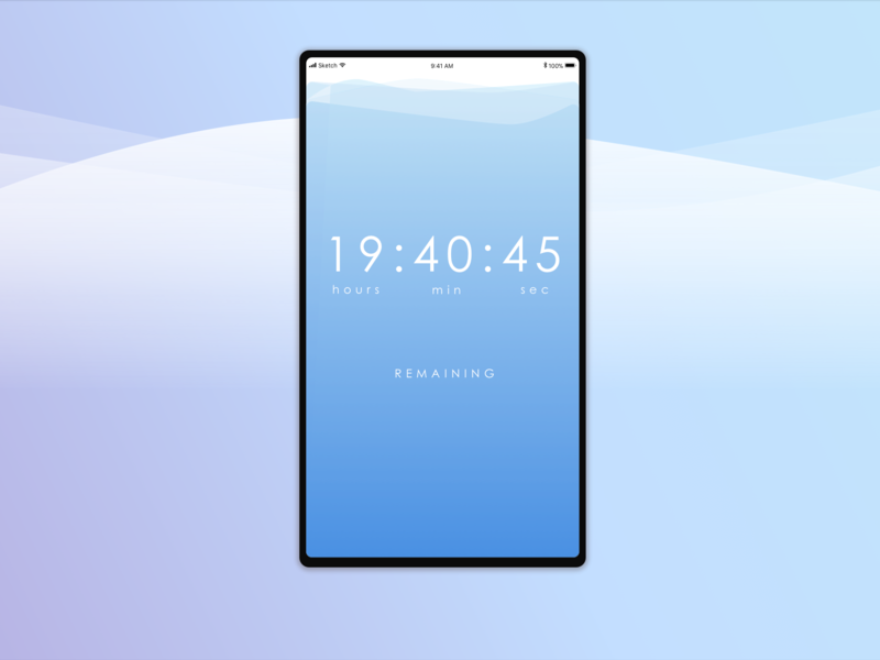 Just another countdown timer gradient blue sketch app clock daily ui 0014 time timer daily ui