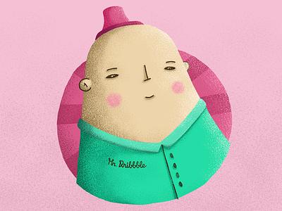 Mr. Dribbble boy man illustration dribbble mister mule sticker