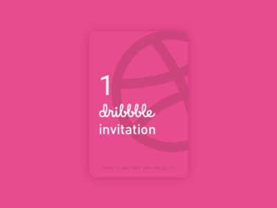 1 dribbble invite! freebie invite giveaway invite