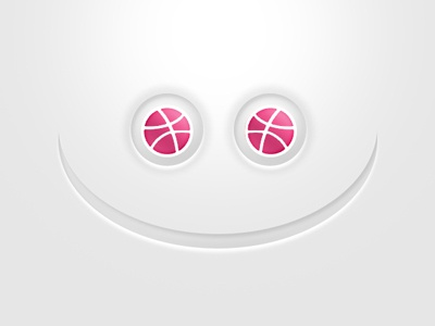 Dribbble Thank You dribbble ping eyes face