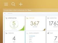 Automotive intranet dashboard V2 | WIP
