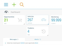 Automotive intranet dashboard V3 | WIP