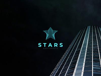 Stars Apartments Logo icon iconic logo logodesigns logodesigner branding logodesign design logos logo
