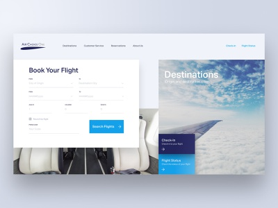Airline Website form design call to action hero search form booking form flight booking webdesign ux ui shadows flights airline adobe xd