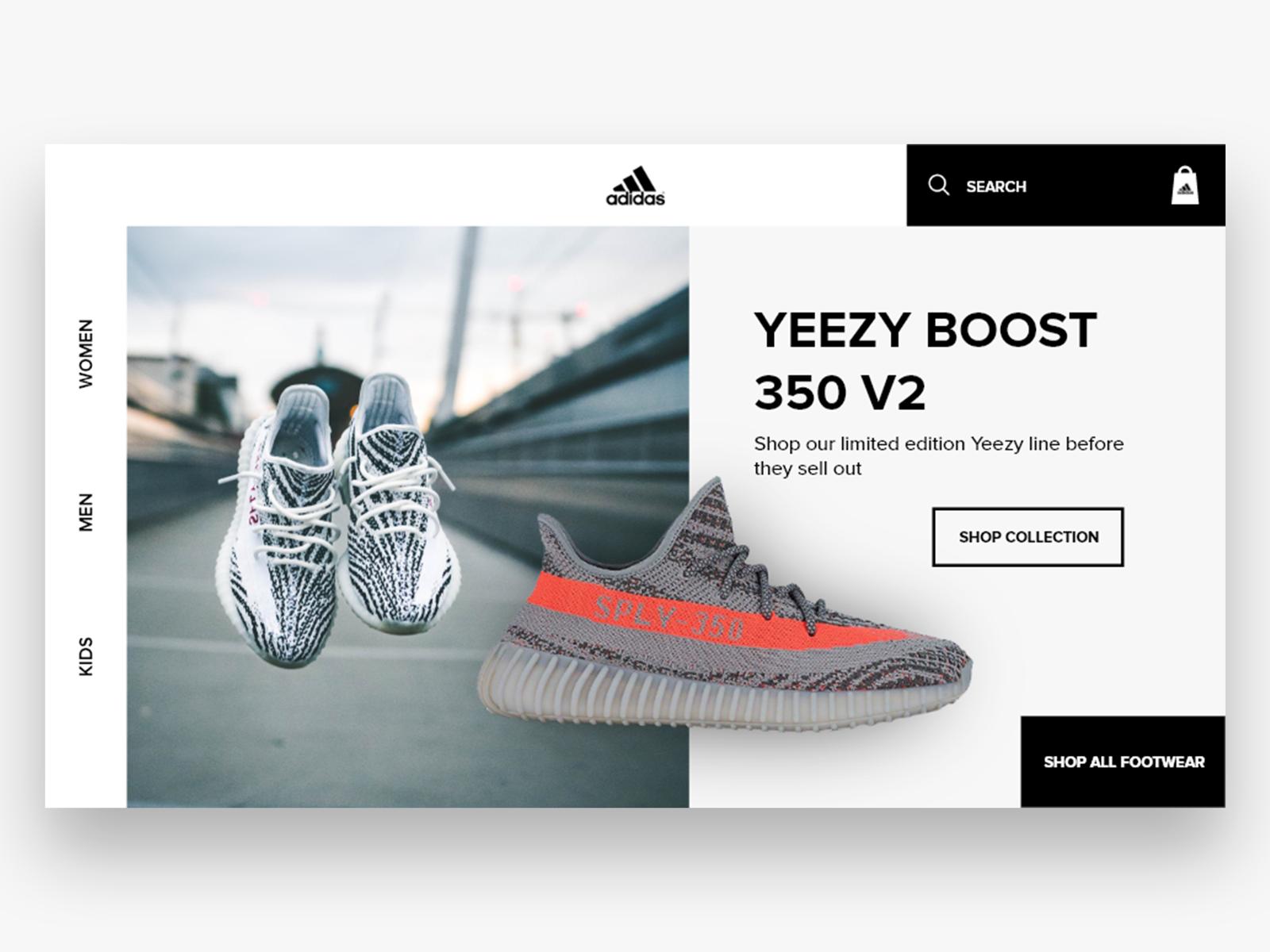 Adidas Website designs, themes